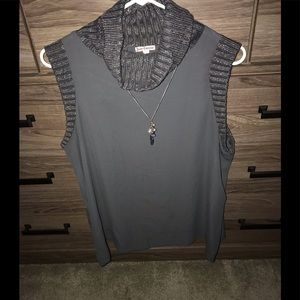 Juicy silky tank blouse w/ turtle neck -Never worn